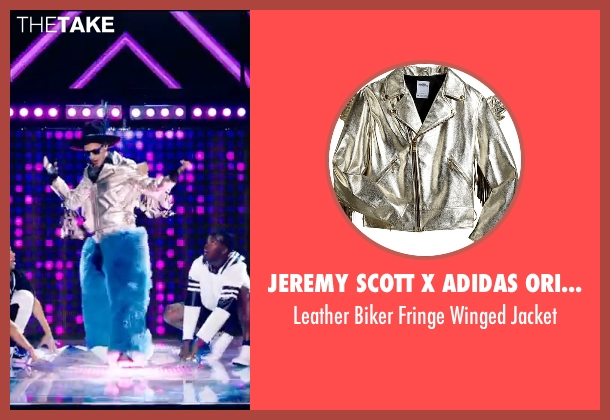 Jeremy Scott X Adidas Originals silver jacket from Popstar: Never Stop Never Stopping seen with Andy Samberg (Conner4Real)