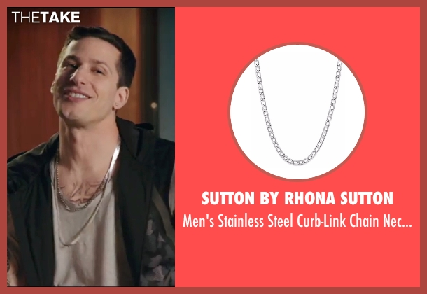 Sutton By Rhona Sutton silver necklace from Popstar: Never Stop Never Stopping seen with Andy Samberg (Conner4Real)