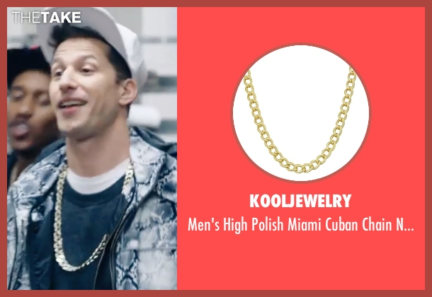 KoolJewelry gold necklace from Popstar: Never Stop Never Stopping seen with Andy Samberg (Conner4Real)