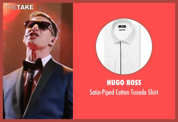 Hugo Boss white shirt from Popstar: Never Stop Never Stopping seen with Andy Samberg (Conner4Real)