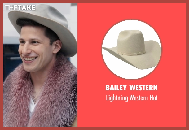 Bailey Western white hat from Popstar: Never Stop Never Stopping seen with Andy Samberg (Conner4Real)