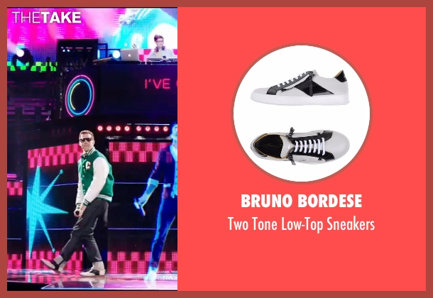 Bruno Bordese white sneakers from Popstar: Never Stop Never Stopping seen with Andy Samberg (Conner4Real)