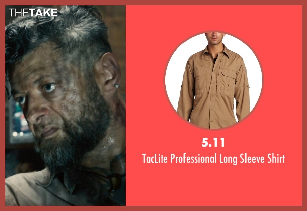 5.11 brown shirt from Avengers: Age of Ultron seen with Andy Serkis (Ulysses Klaw)