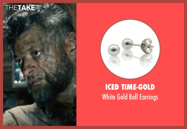 Iced Time-Gold earrings from Avengers: Age of Ultron seen with Andy Serkis (Ulysses Klaw)