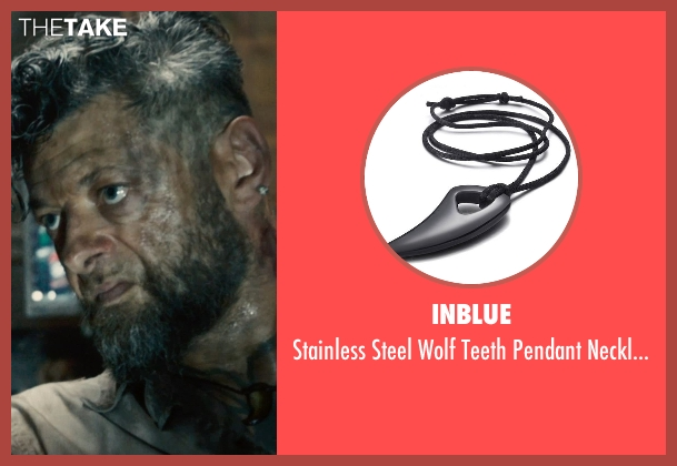 Inblue necklace from Avengers: Age of Ultron seen with Andy Serkis (Ulysses Klaw)