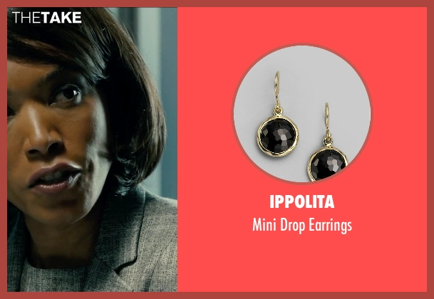 Ippolita gold earrings from Survivor seen with Angela Bassett (Maureen Crane)
