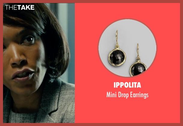 Ippolita gold earrings from Survivor seen with Angela Bassett (Maureen Crane)
