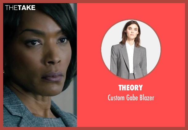 Theory gray blazer from Survivor seen with Angela Bassett (Maureen Crane)