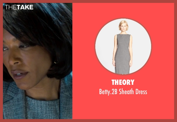 Theory gray dress from Survivor seen with Angela Bassett (Maureen Crane)