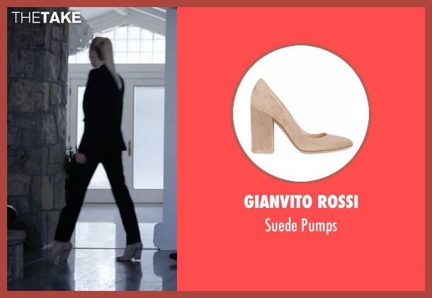 Gianvito Rossi beige pumps from Mr. Robot seen with Angela Moss (Portia Doubleday)