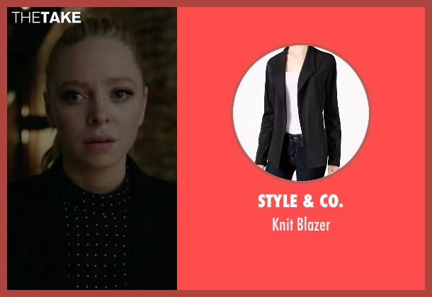 Style & Co. black blazer from Mr. Robot seen with Angela Moss (Portia Doubleday)