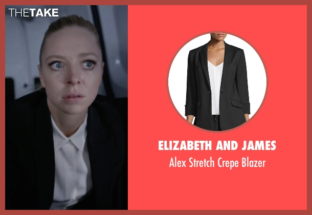 Elizabeth And James black blazer from Mr. Robot seen with Angela Moss (Portia Doubleday)