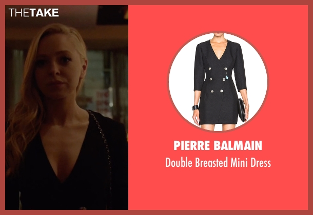 Pierre Balmain black dress from Mr. Robot seen with Angela Moss (Portia Doubleday)