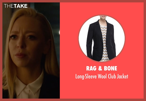 Rag & Bone black jacket from Mr. Robot seen with Angela Moss (Portia Doubleday)