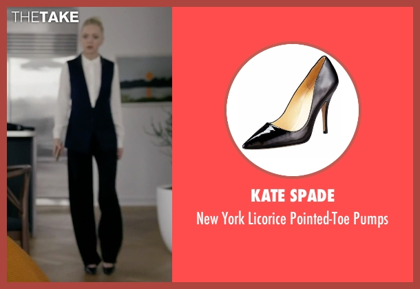 Kate Spade black pumps from Mr. Robot seen with Angela Moss (Portia Doubleday)
