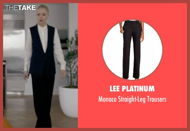 Lee Platinum black trousers from Mr. Robot seen with Angela Moss (Portia Doubleday)