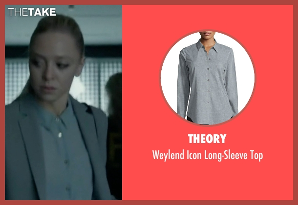 Frank & Eileen gray shirt from Mr. Robot seen with Angela Moss (Portia Doubleday)