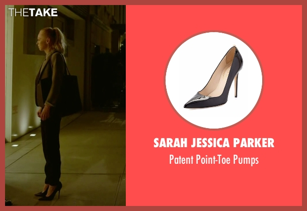 Sarah Jessica Parker pumps from Mr. Robot seen with Angela Moss (Portia Doubleday)