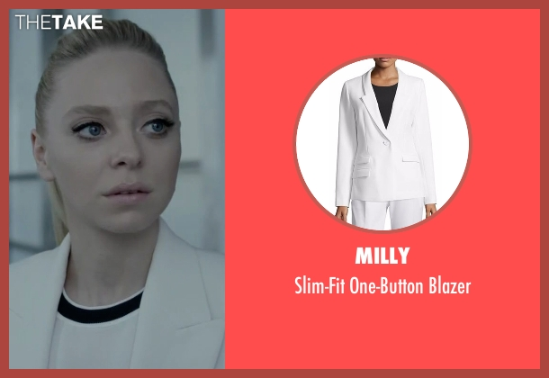 Milly white blazer from Mr. Robot seen with Angela Moss (Portia Doubleday)