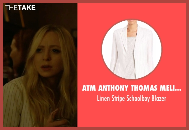 ATM Anthony Thomas Melillo white blazer from Mr. Robot seen with Angela Moss (Portia Doubleday)
