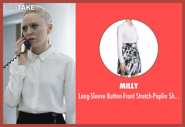 Milly white shirt from Mr. Robot seen with Angela Moss (Portia Doubleday)