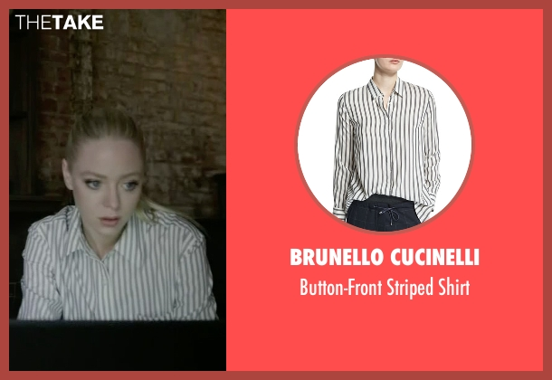 Brunello Cucinelli white shirt from Mr. Robot seen with Angela Moss (Portia Doubleday)