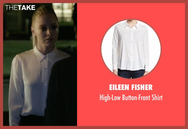 Eileen Fisher white shirt from Mr. Robot seen with Angela Moss (Portia Doubleday)