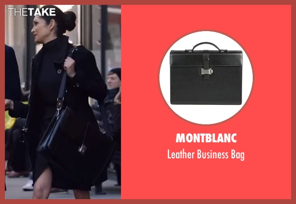 Montblanc black bag from Power seen with Angela Valdes (Lela Loren)
