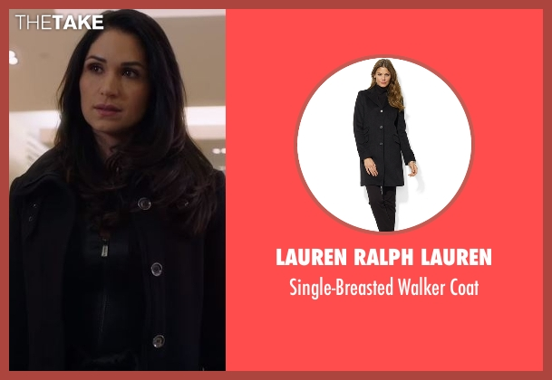 Lauren Ralph Lauren black coat from Power seen with Angela Valdes (Lela Loren)