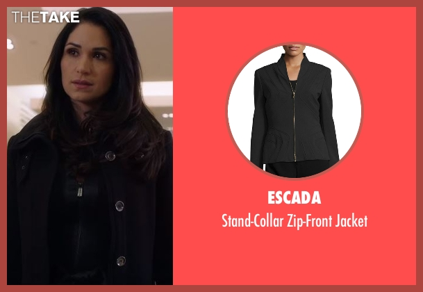Escada black jacket from Power seen with Angela Valdes (Lela Loren)