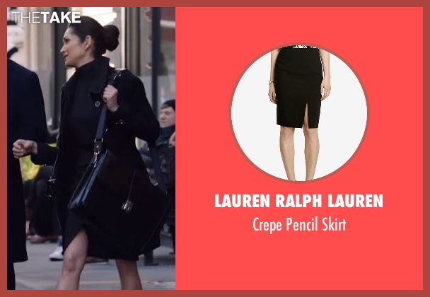 Lauren Ralph Lauren black skirt from Power seen with Angela Valdes (Lela Loren)