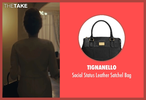 Tignanello black bag from By the Sea seen with Angelina Jolie (Vanessa)