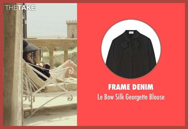 Frame Denim black blouse from By the Sea seen with Angelina Jolie (Vanessa)