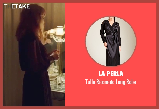 La Perla black robe from By the Sea seen with Angelina Jolie (Vanessa)