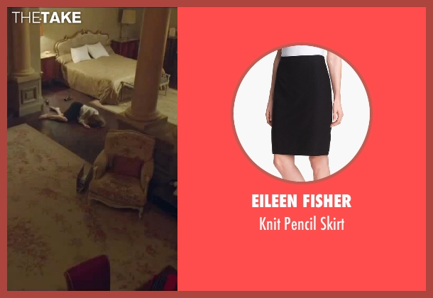 Eileen Fisher black skirt from By the Sea seen with Angelina Jolie (Vanessa)