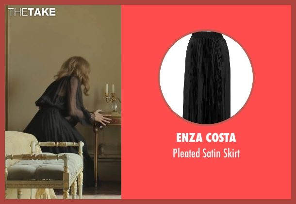 Enza Costa black skirt from By the Sea seen with Angelina Jolie (Vanessa)
