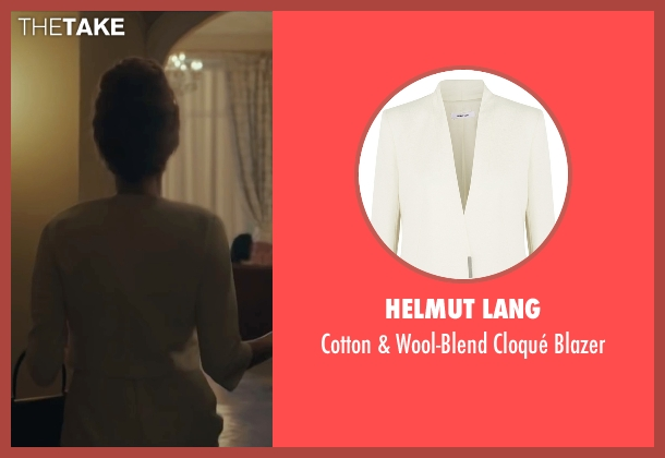 Helmut Lang white blazer from By the Sea seen with Angelina Jolie (Vanessa)