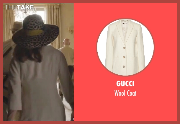 Gucci white coat from By the Sea seen with Angelina Jolie (Vanessa)