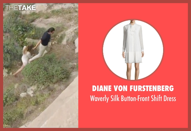 Diane Von Furstenberg white dress from By the Sea seen with Angelina Jolie (Vanessa)