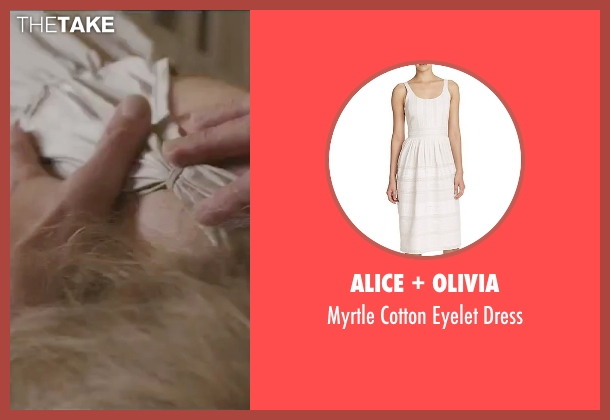 Alice + Olivia white dress from By the Sea seen with Angelina Jolie (Vanessa)