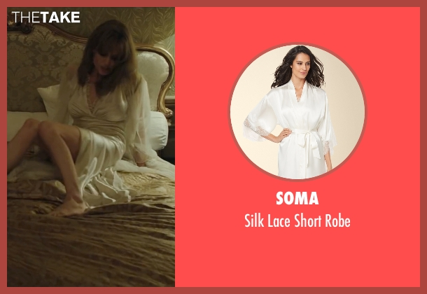 Soma white robe from By the Sea seen with Angelina Jolie (Vanessa)
