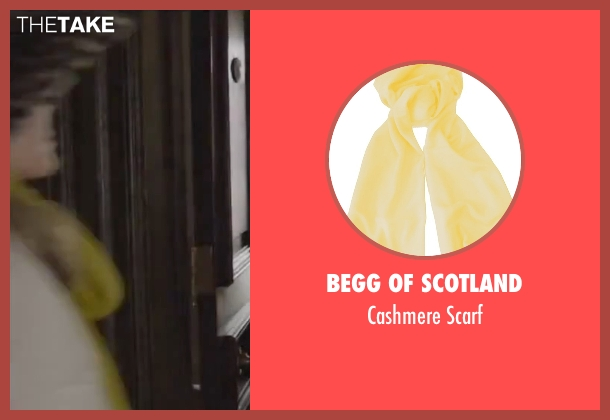 Begg Of Scotland yellow scarf from By the Sea seen with Angelina Jolie (Vanessa)