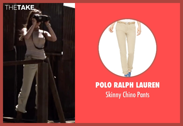 Polo Ralph Lauren beige pants from Mr. & Mrs. Smith seen with Angelina Jolie (Jane Smith)