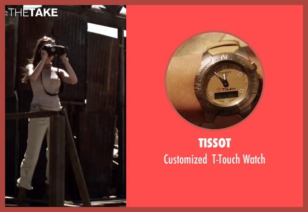 Tissot beige watch from Mr. & Mrs. Smith seen with Angelina Jolie (Jane Smith)