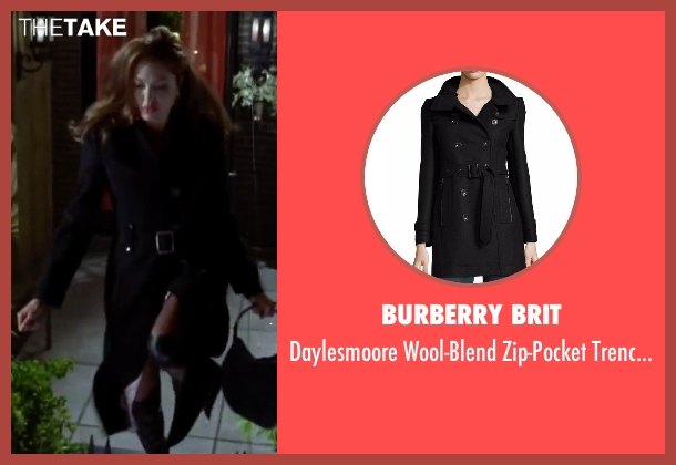Burberry Brit black coat from Mr. & Mrs. Smith seen with Angelina Jolie (Jane Smith)