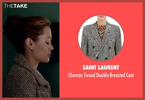 Saint Laurent black coat from Mr. & Mrs. Smith seen with Angelina Jolie (Jane Smith)