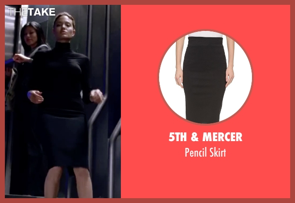 5th & Mercer black skirt from Mr. & Mrs. Smith seen with Angelina Jolie (Jane Smith)