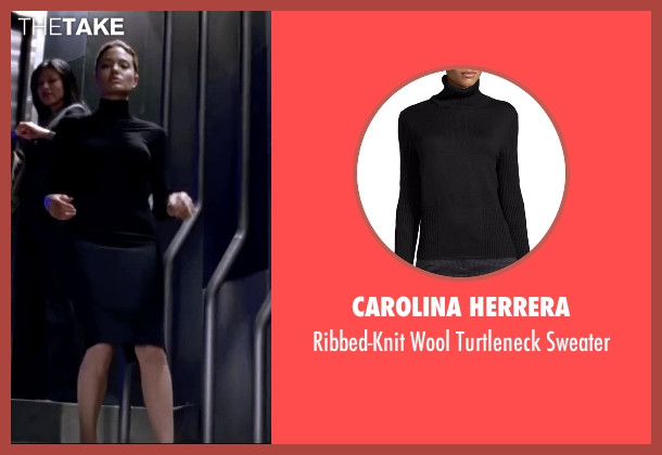 Carolina Herrera black sweater from Mr. & Mrs. Smith seen with Angelina Jolie (Jane Smith)