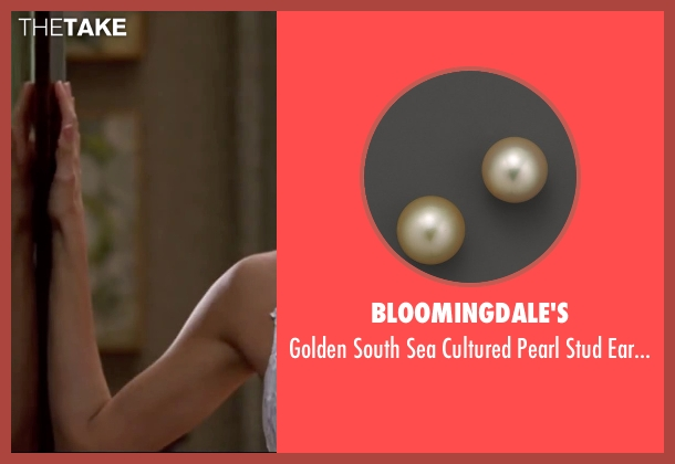 Bloomingdale's gold earrings from Mr. & Mrs. Smith seen with Angelina Jolie (Jane Smith)