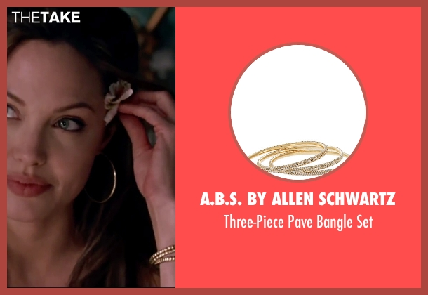 A.B.S. by Allen Schwartz gold set from Mr. & Mrs. Smith seen with Angelina Jolie (Jane Smith)